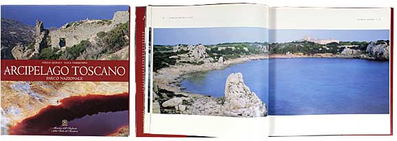 Pagine del libro fotografico Arcipelago Toscano Parco Nazionale