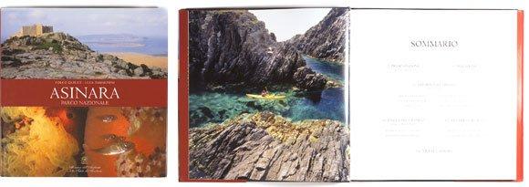Pagine del libro fotografico Asinara Area Marina Protetta.