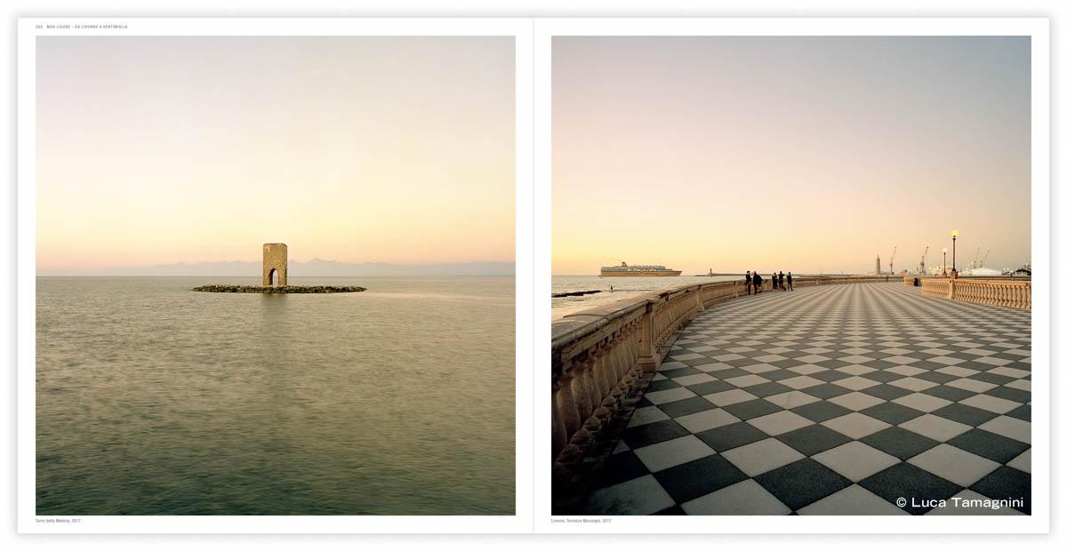 Torre della Meloria, 2017 (a sinistra) Livorno, Terrazza Mascagni, 2017 (a-destra) - Fotografia di Luca Tamagnini