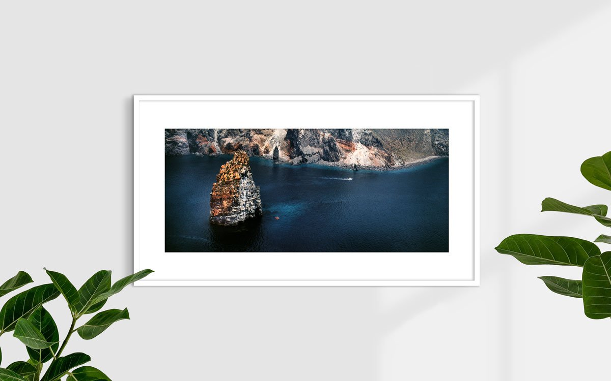 Faraglioni di Lipari - Fotografia Fine Art di Luca Tamagnini 110 x 48 cm - Catalogo 1987-002
