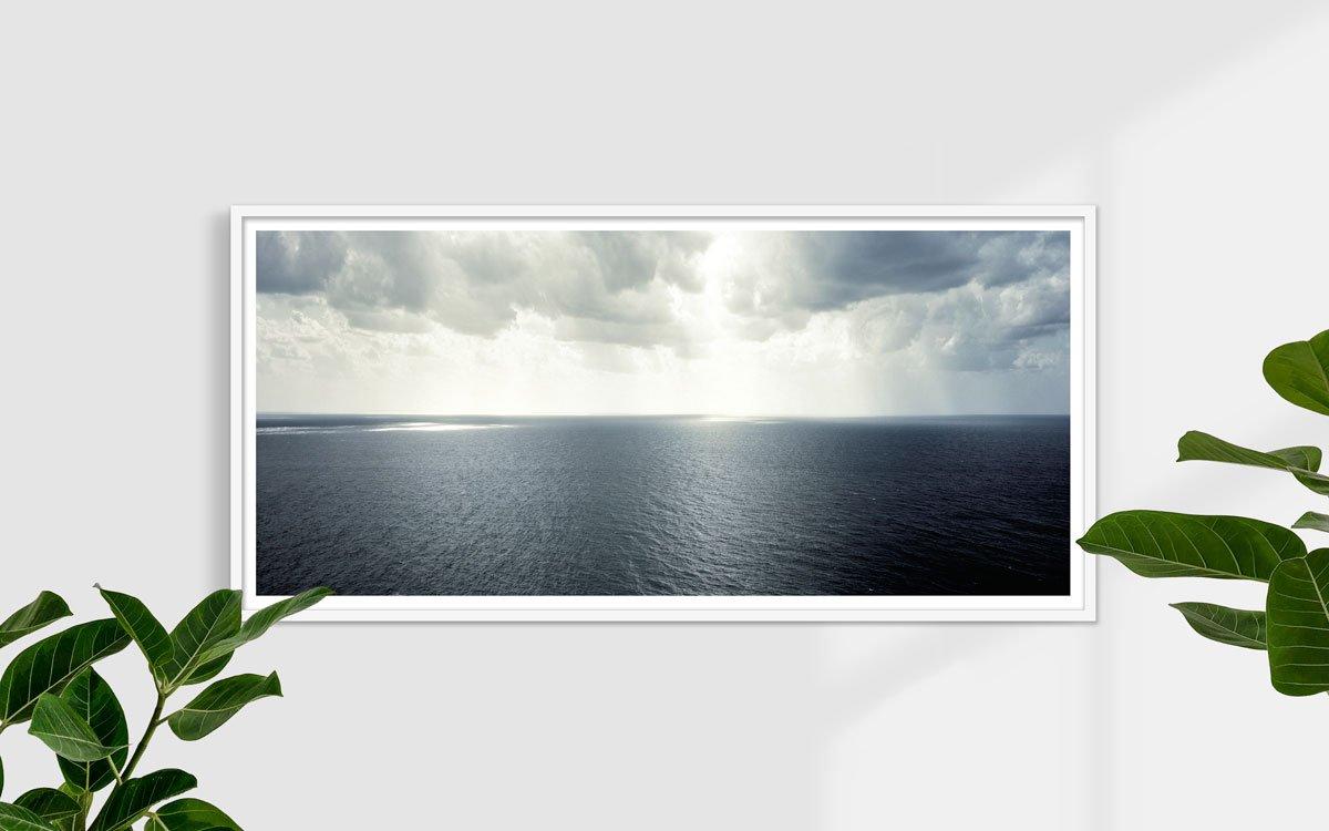 Il mare e il cielo di Capri dalla terrazza dei Giardini di Augusto. Foto fine art di Luca Tamagnini - Catalogo 2008-002 - 150 x 70 cm