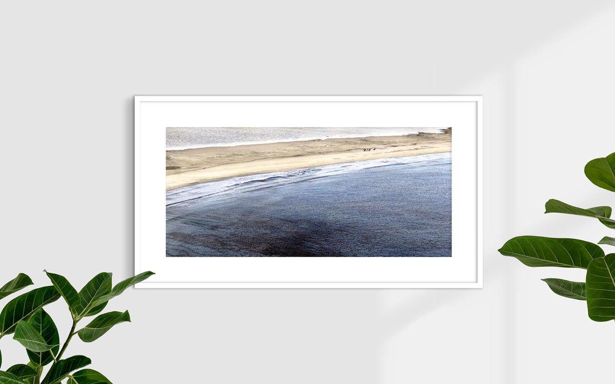 Villasimius cavalli sulla Spiaggia Timi Ama Porto Giunco - Fotografia Fine Art di Luca Tamagnini 110 x 50 cm - Catalogo 2010-001