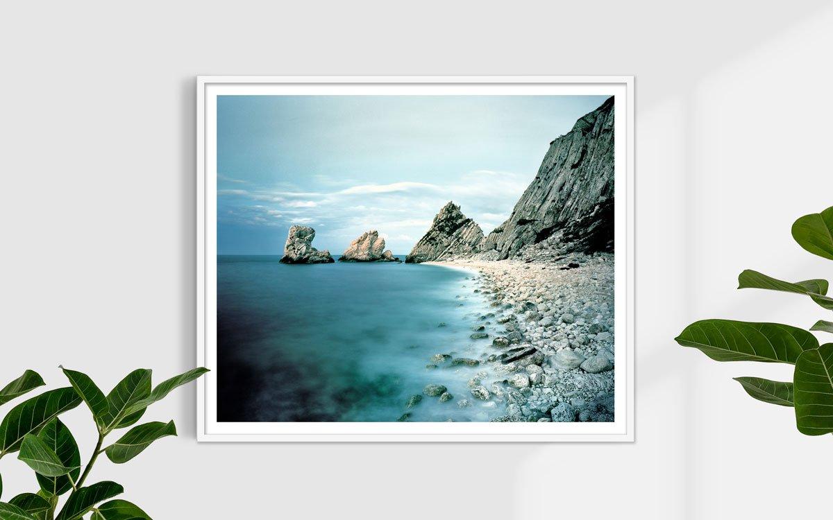 Monte Conero, Scogli Le Due Sorelle - Fotografia Fine Art di Luca Tamagnini - Formato 120 x 100 cm - Catalogo 2017-006 - Titolo dell'opera: Due Sorelle Conero 2017