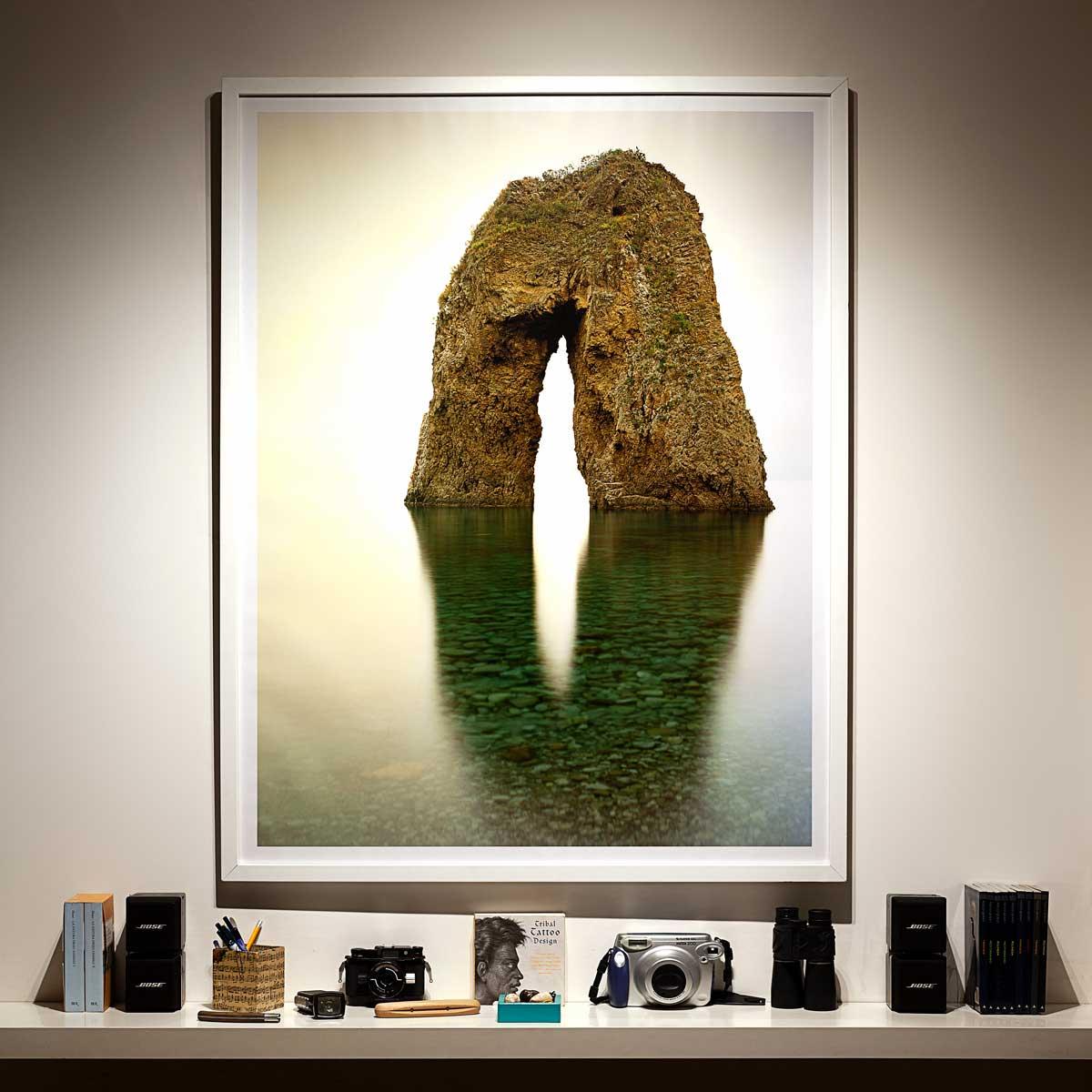 Isola di Ponza, Arco Spaccapolpi - Fotografia Fine Art di Luca Tamagnini - Formato 100 x 130 cm - Catalogo 2018-001