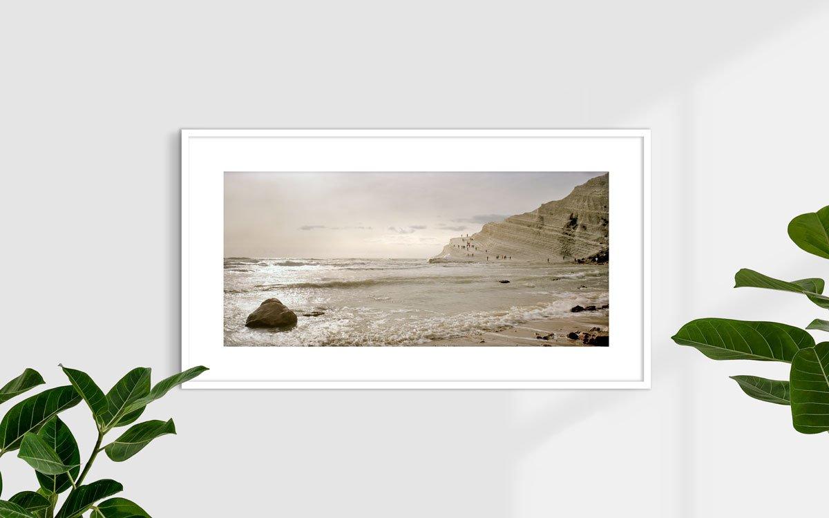 Sicilia, Realmonte, Scala dei Turchi - Fotografia Fine Art di Luca Tamagnini - Formato 110 x 50 cm - Catalogo 2018-009