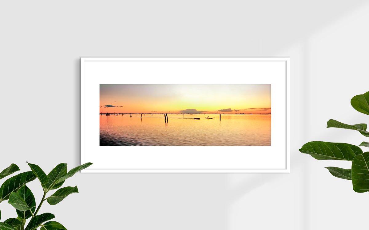 Laguna Veneta, Isola di Burano - Fotografia Fine Art di Luca Tamagnini - Formato 110 x 40 cm - Catalogo 2018-017