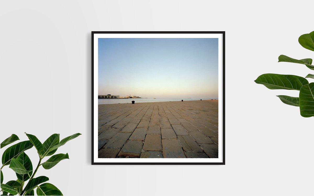 Trieste, Molo Audace 2017 - Fotografia Fine Art di Luca Tamagnini - Formato 100 x 100 cm - Catalogo 2018-062