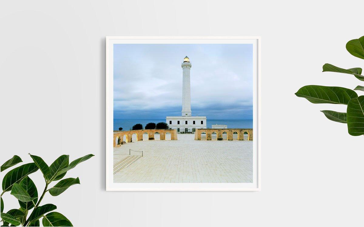 Faro di Santa Maria di Leuca - Fotografia Fine Art di Luca Tamagnini - Formato 100 x 100 cm - Catalogo 2017-004